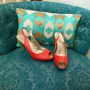 Guess Great Condition Tangerine Slingbacks